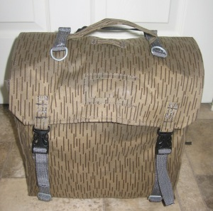 East german backpack converted as bike panniers