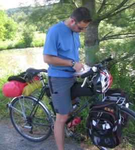 Guy Bouchard bicycle touring Eastern Township and Vermont