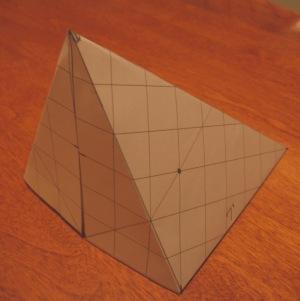 12 X 9 slanted pyramid tarp paper model
