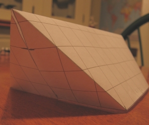 12 X 9 winter tarp paper model