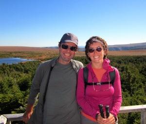 Guy et Chantal sur le Mont Albert