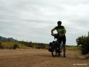 Sur la route sablonneuse vers Tongoy