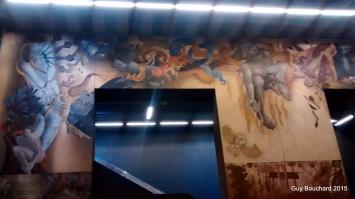 Dans le métro de Santiago