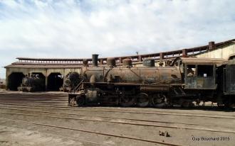 Des trains à vapeur au musée ferroviaire de Baquedano