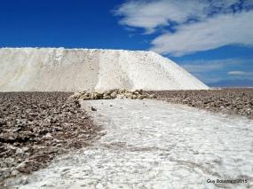 Le sel dans le désert d'Atacama