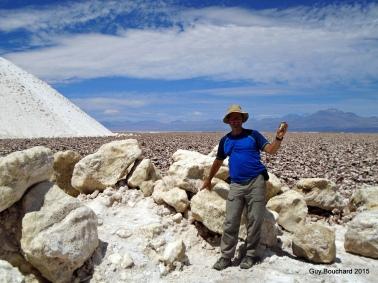Moi dans le sel du désert d'Atacama