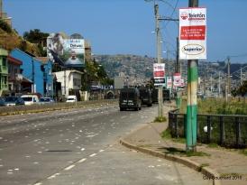 Protestation à l'entrée de Val Paraiso