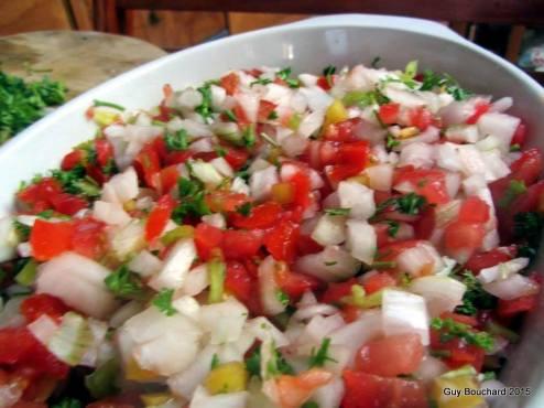 Pebre (sauce ou salade typiquement chilienne)